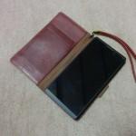 スマートフォン「BNP-500K」外観チェックと手帳カバー