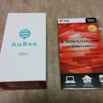 「AuBee elm.」が到着。早速開封しました。
